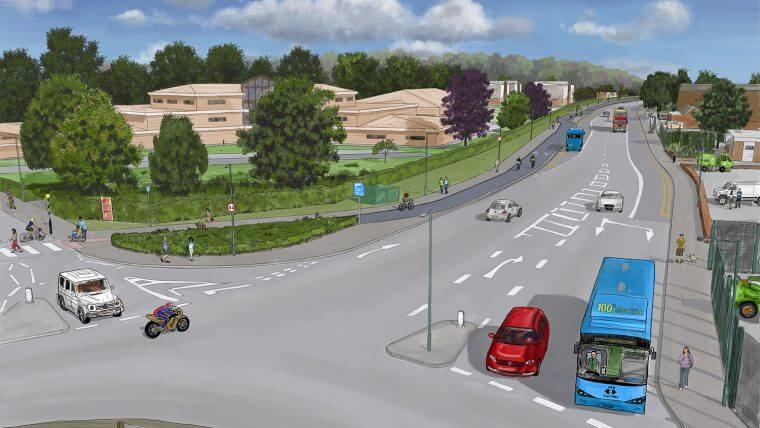 Artist's impression of Daleside Road