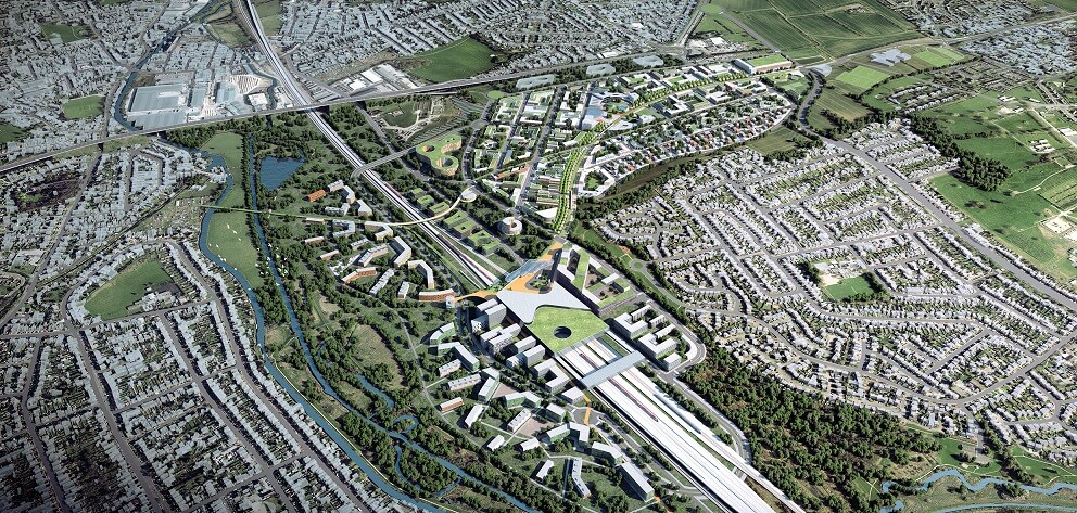 An artist's impression of the Toton station