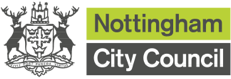 Nottingham City Council logo providing link to the Nottingham City Council website
