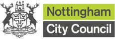 Nottingham City Council logo providing link to the Nottingham City Council website