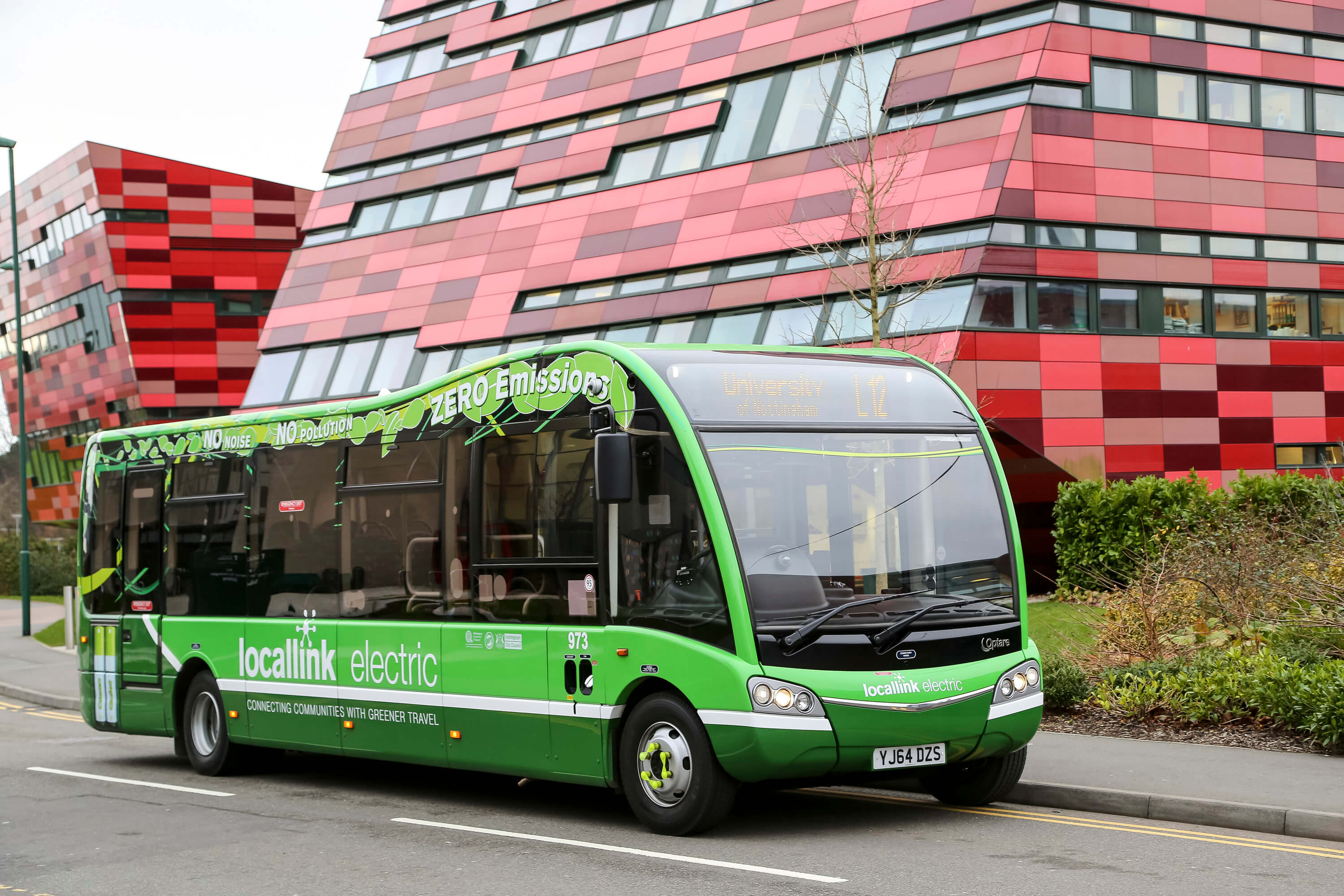 Locallink bus at University of Nottingham