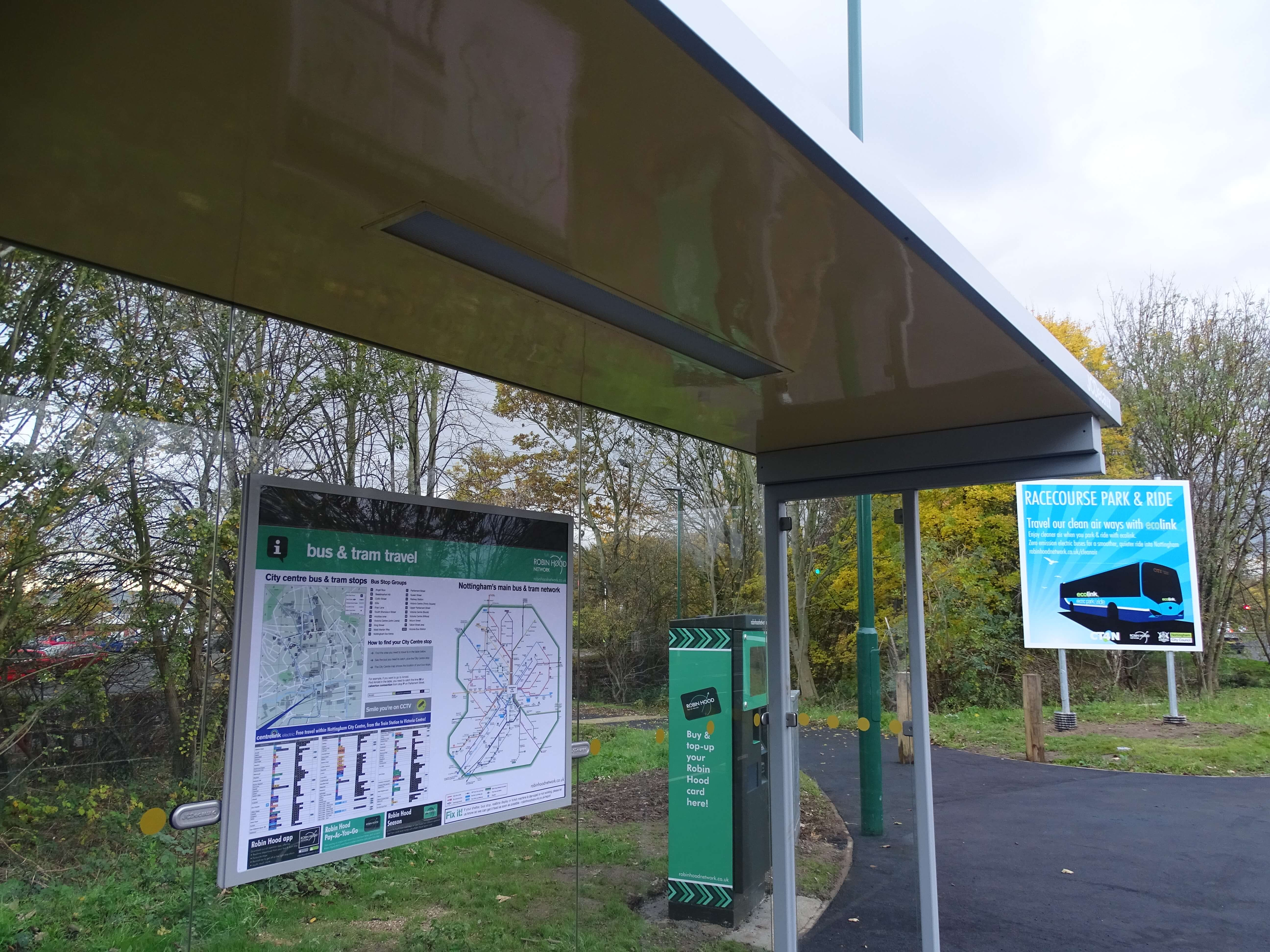 New bus stop at Colwick Park & Ride