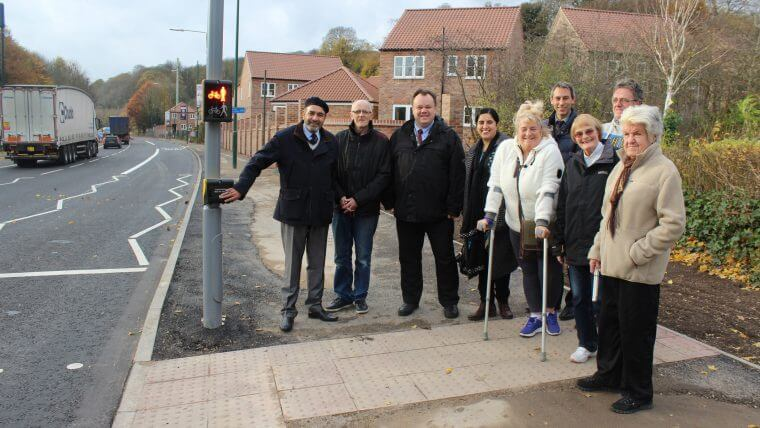 Residents using the new pedestrian crossing on Daleside Road