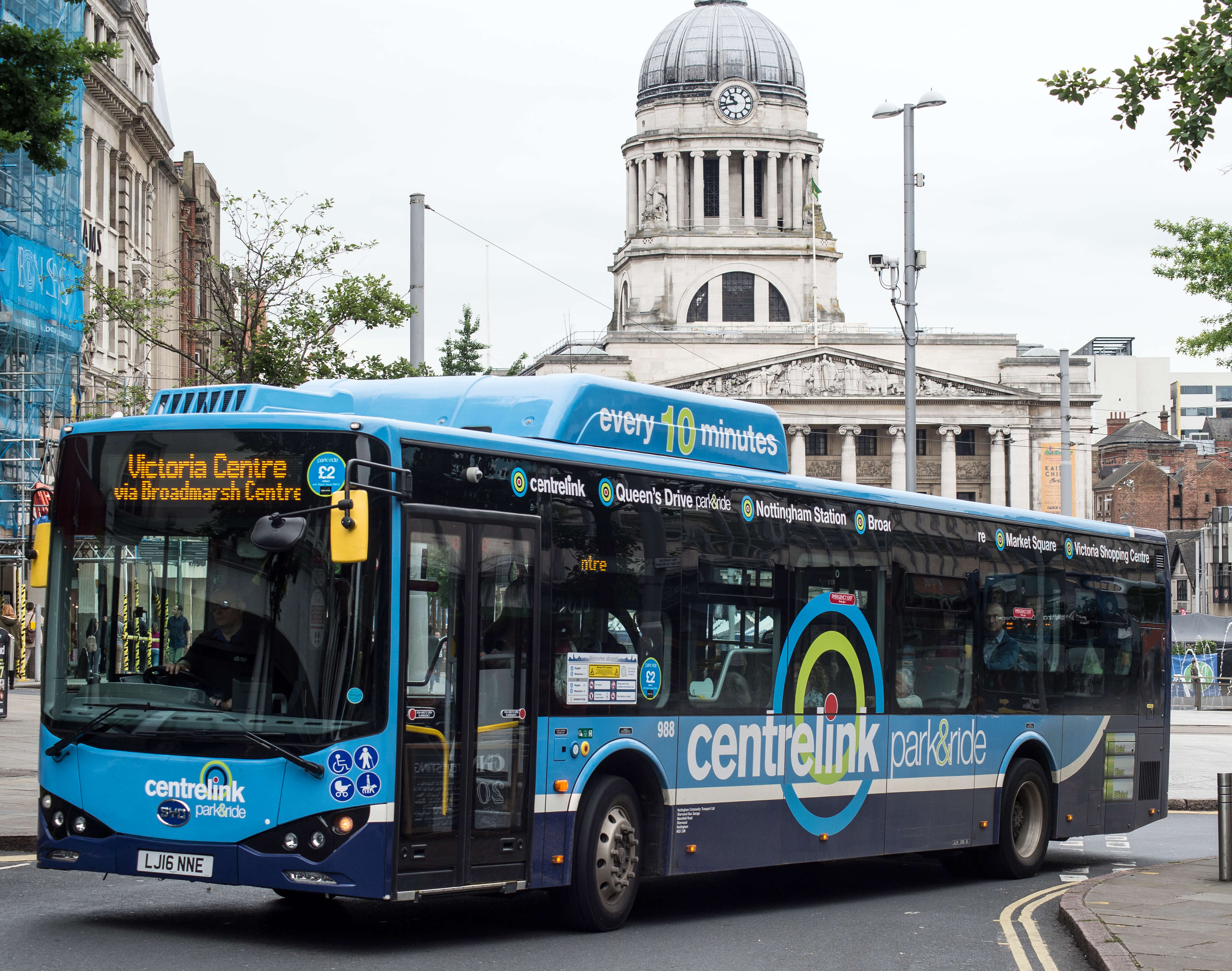 Electric bus in Old Market Square