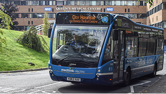 Medilink bus outside QMC