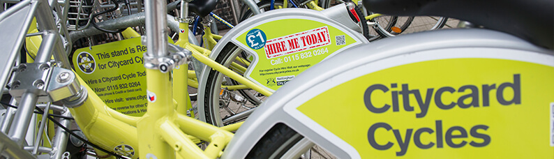 Citycard Cycle hire