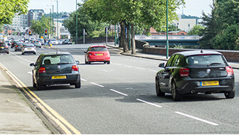 Cars on London Road