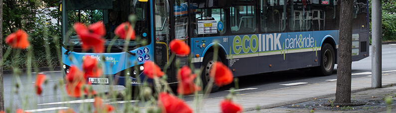 Ecolink bus on route to the city centre