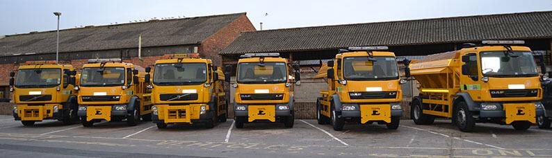 Nottingham City gritting vehicles