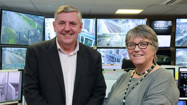 Cllr Sally Longford and Mike Mabey