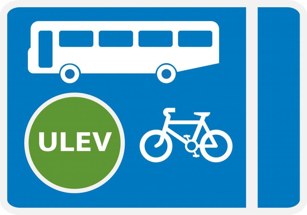 Ulev Ultra Low Emission Bus Lane On Daleside Road