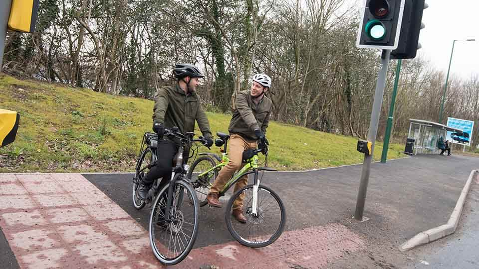 Cyclists in Nottingham