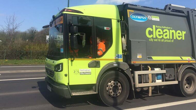 Nottingham city council bin lorries