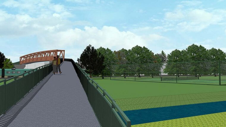 Cycle bridge Nottingham