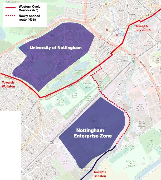 Nottingham enterprise zone map
