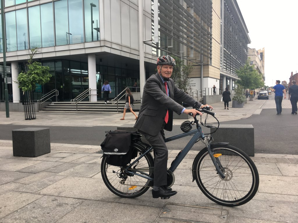 Cllr Glyn Jenkins supports the use of ebikes