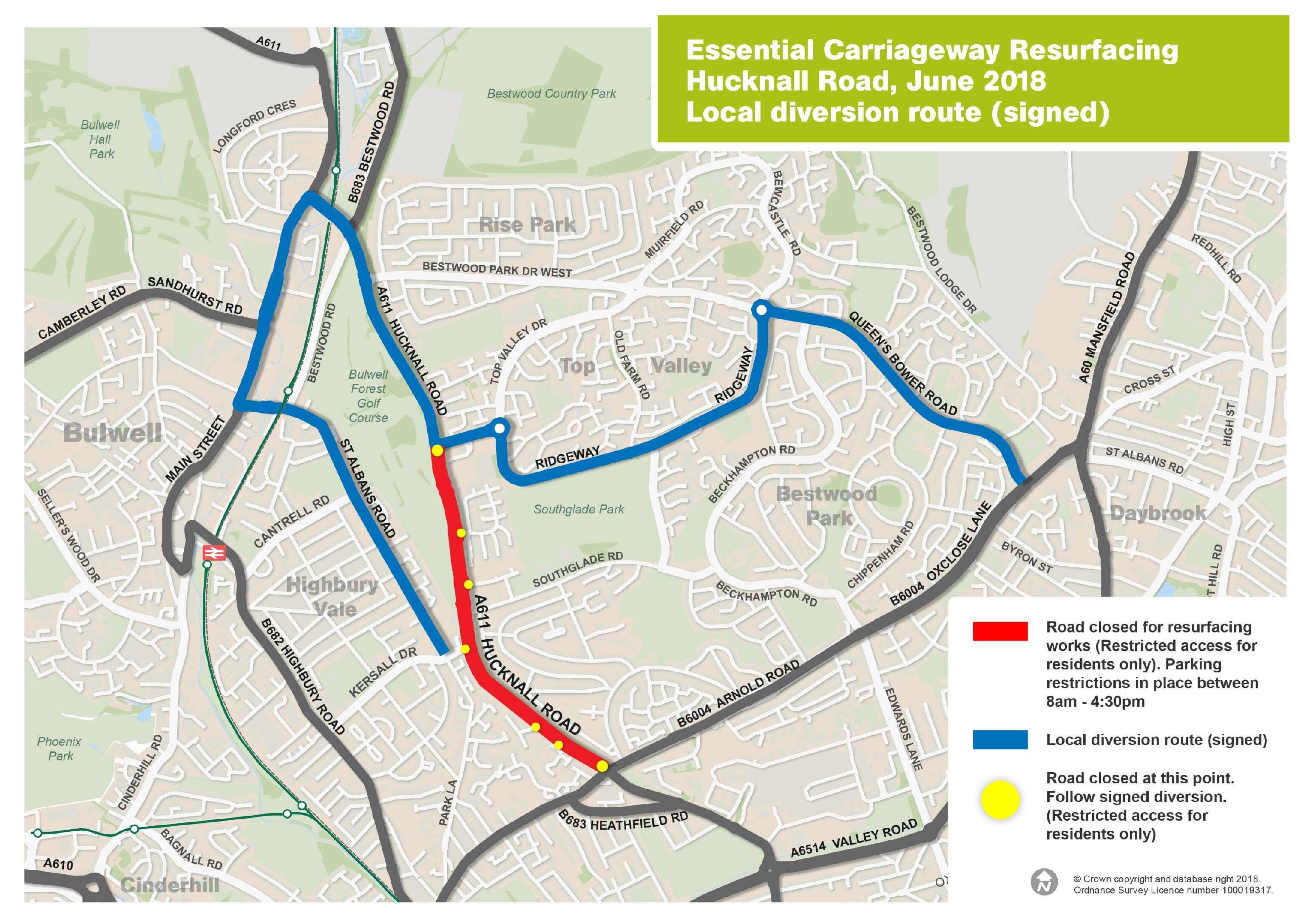 Hucknall Road diversion