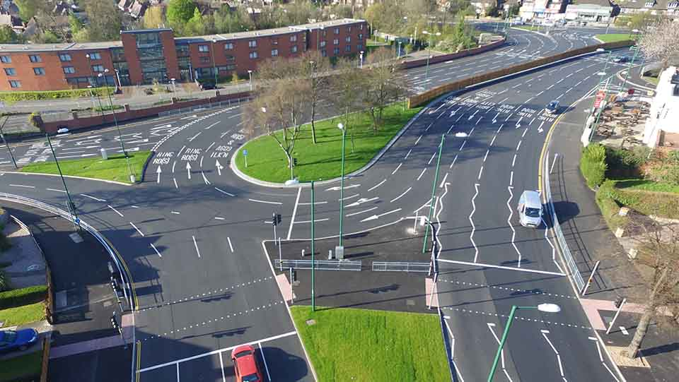 Crown Island roundabout carries around 74,000 vehicles a day