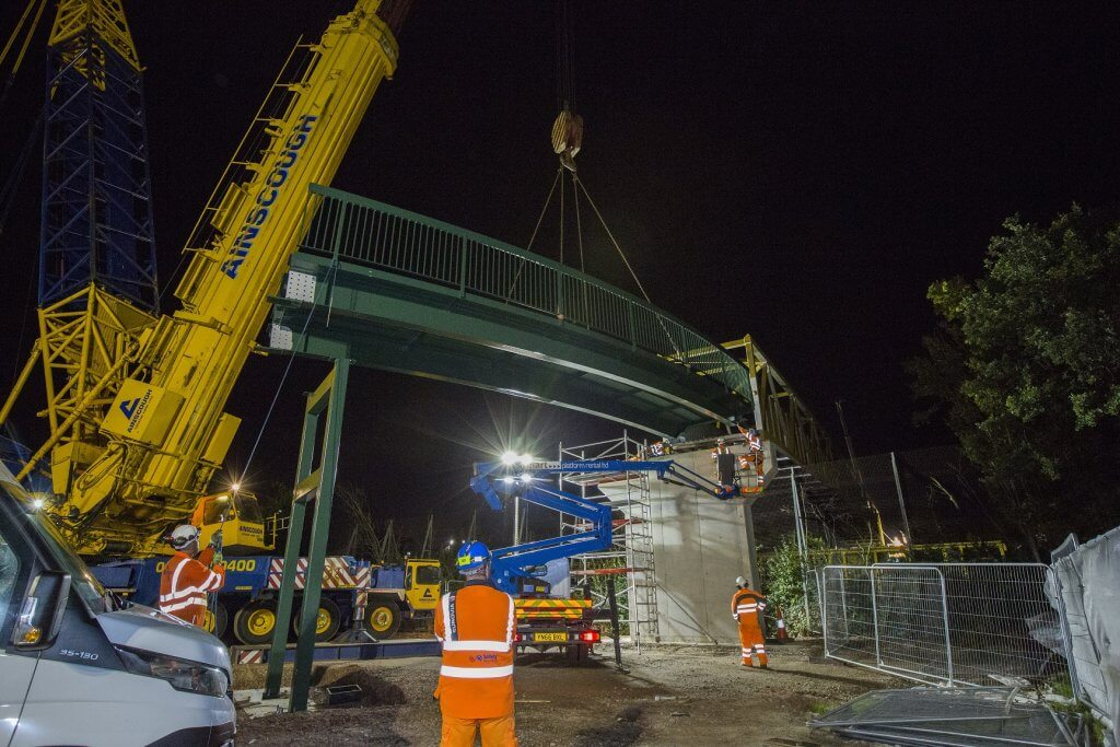 Cycle bridge installation