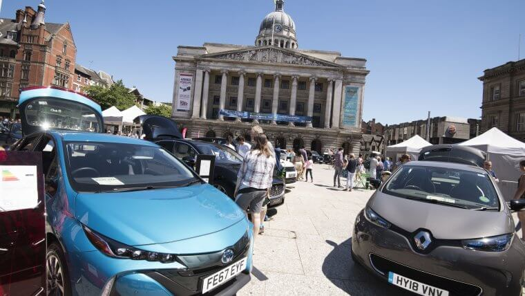 Electric vehicles ULEVs in Nottingham