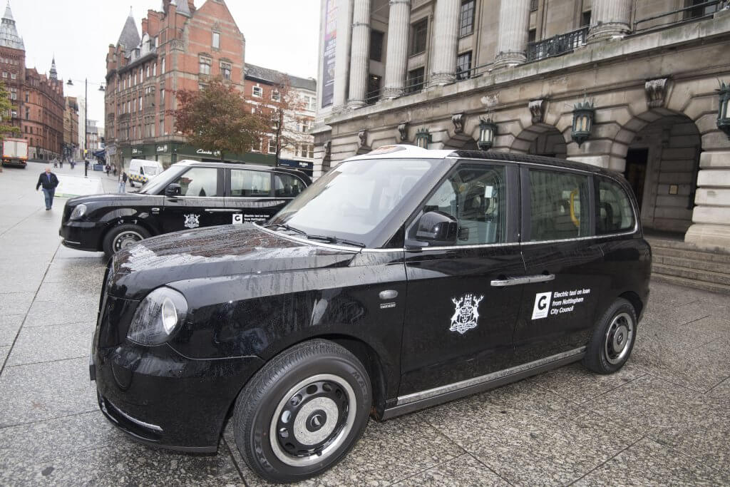 electric taxi nottingham
