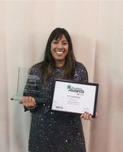 Principal Transport Planner Rasita Chudasama was named an 'EV Champion at the Green Fleet News Awards.
