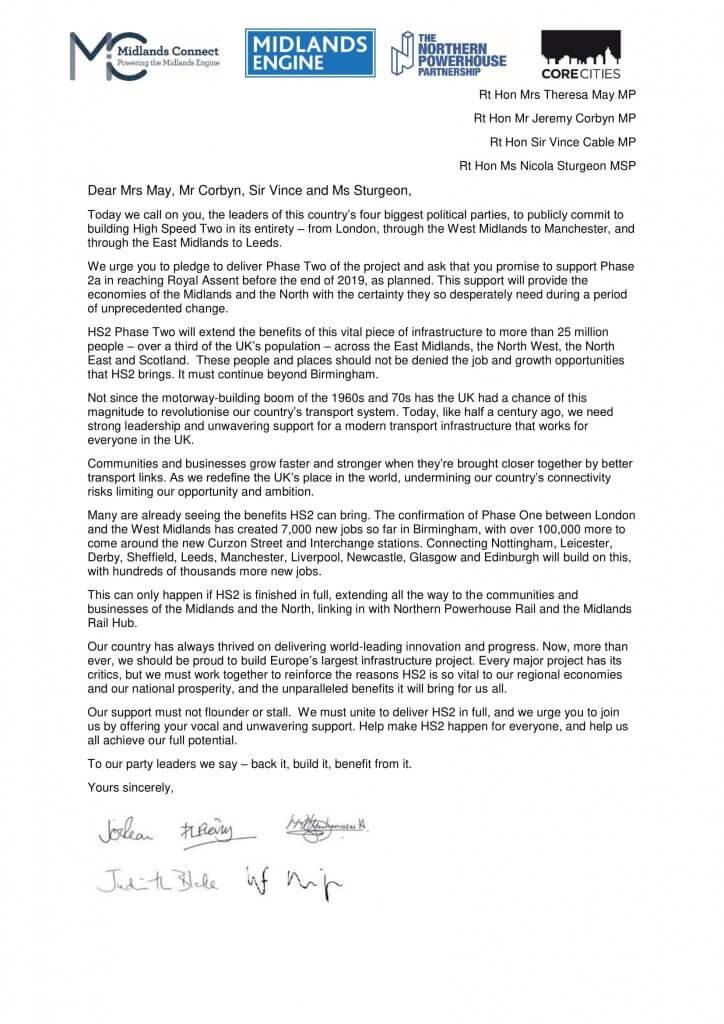 HS2 open letter