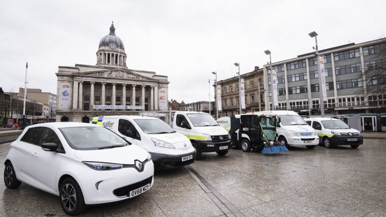 Some of the council's electric vehicles