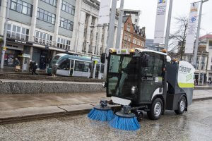 Zero emission street sweeper