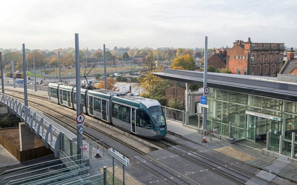 Tram at Nottingham Station