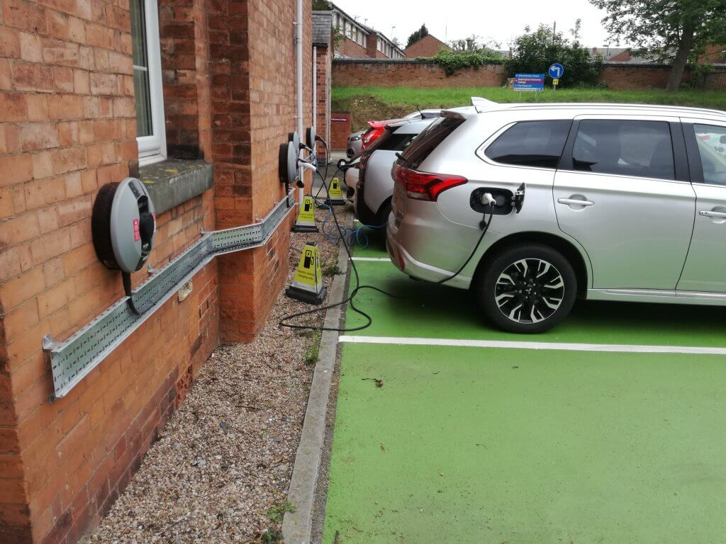 Charge points in use at the Trust Headquarters