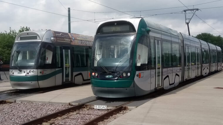 Refurbished tram