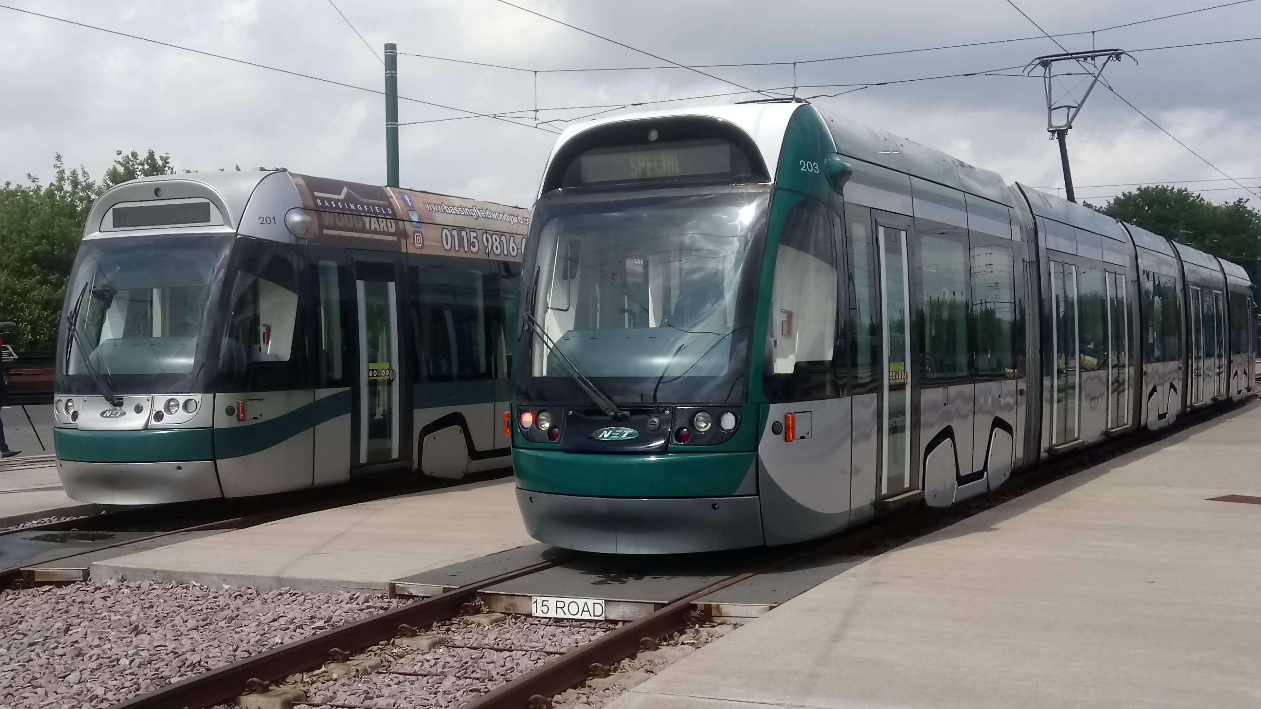 Refurbished tram at the Wilkinson Street tram depot