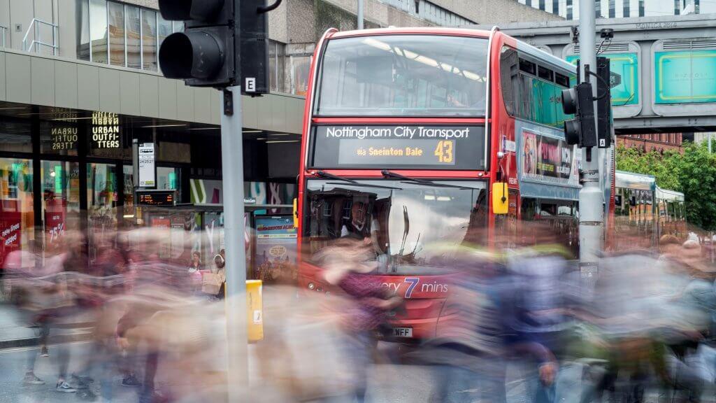 NCT 43 bus outside Victoria Centre
