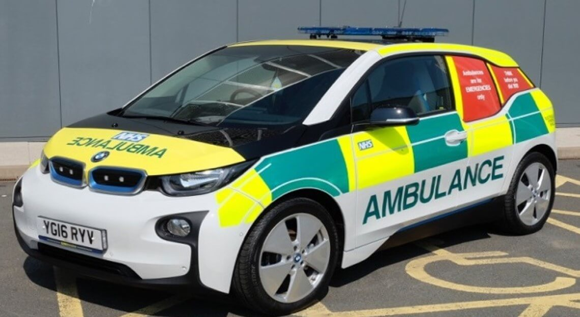 East Midlands Ambulance Service BMW i3