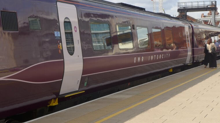 Train in new East Midlands Railway branding