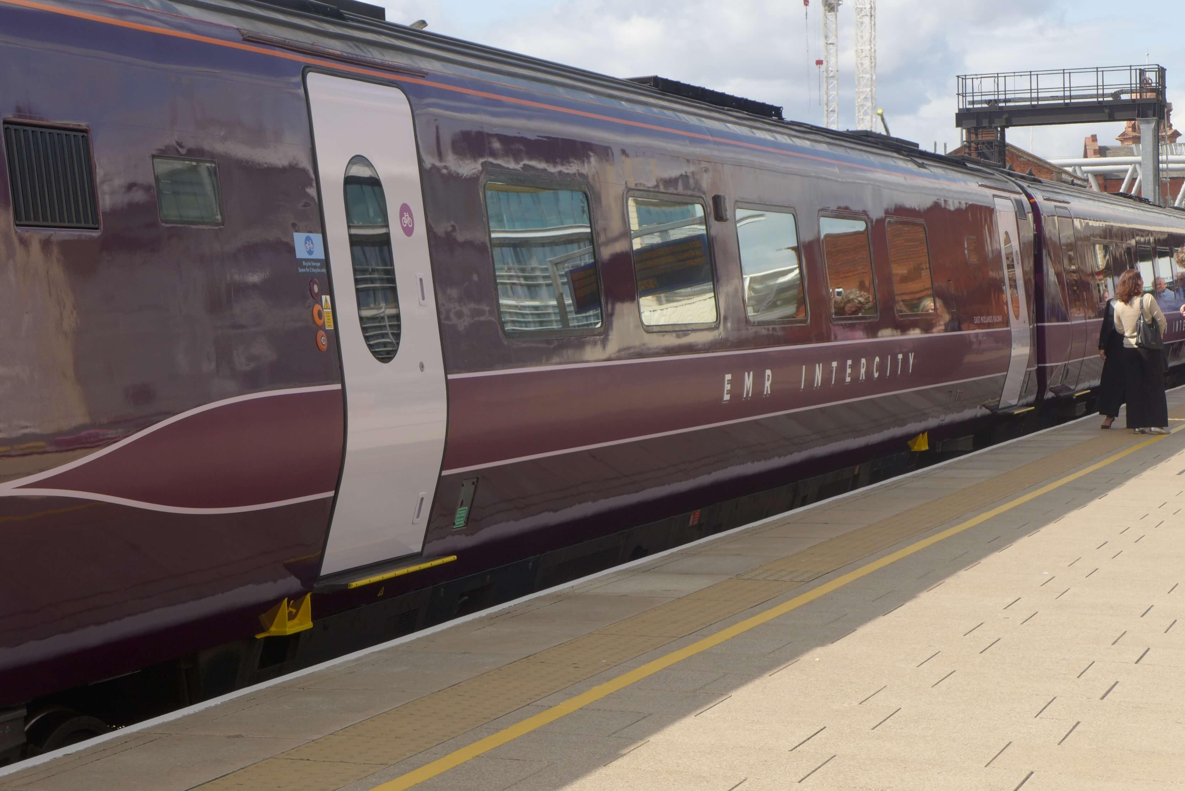 Train in new East Midlands Railway branding