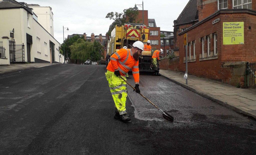 Pothole Repair Underway