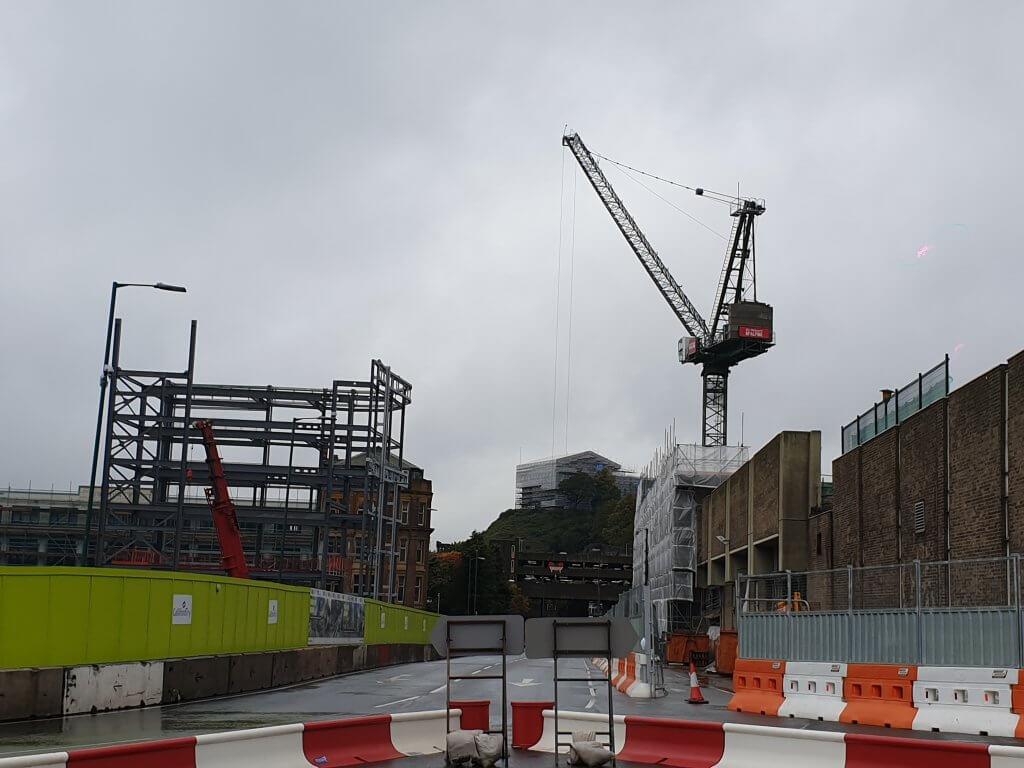 Image showing crane constructed for intu Broadmarsh