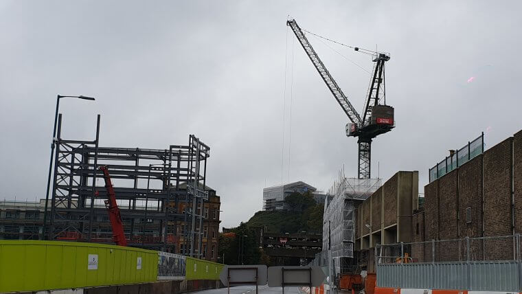 Image showing crane constructed for intu Broadmarsh