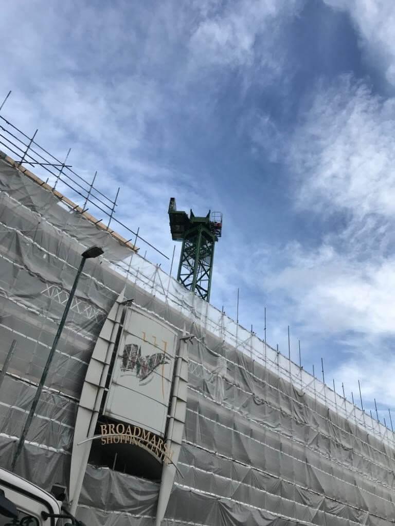 Crane building intu Broadmarsh