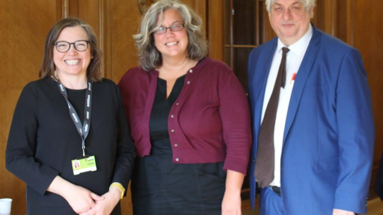 Transport for London's Heidi Alexander meets Cllr Williams and Cllr Edwards