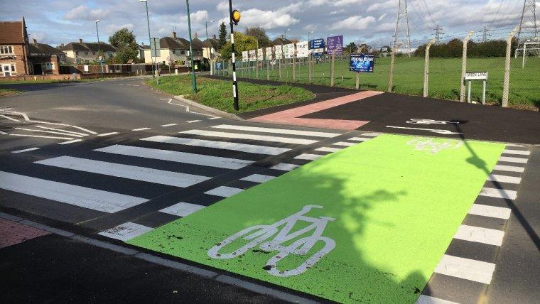 New cycle crossing on Farnborough Road