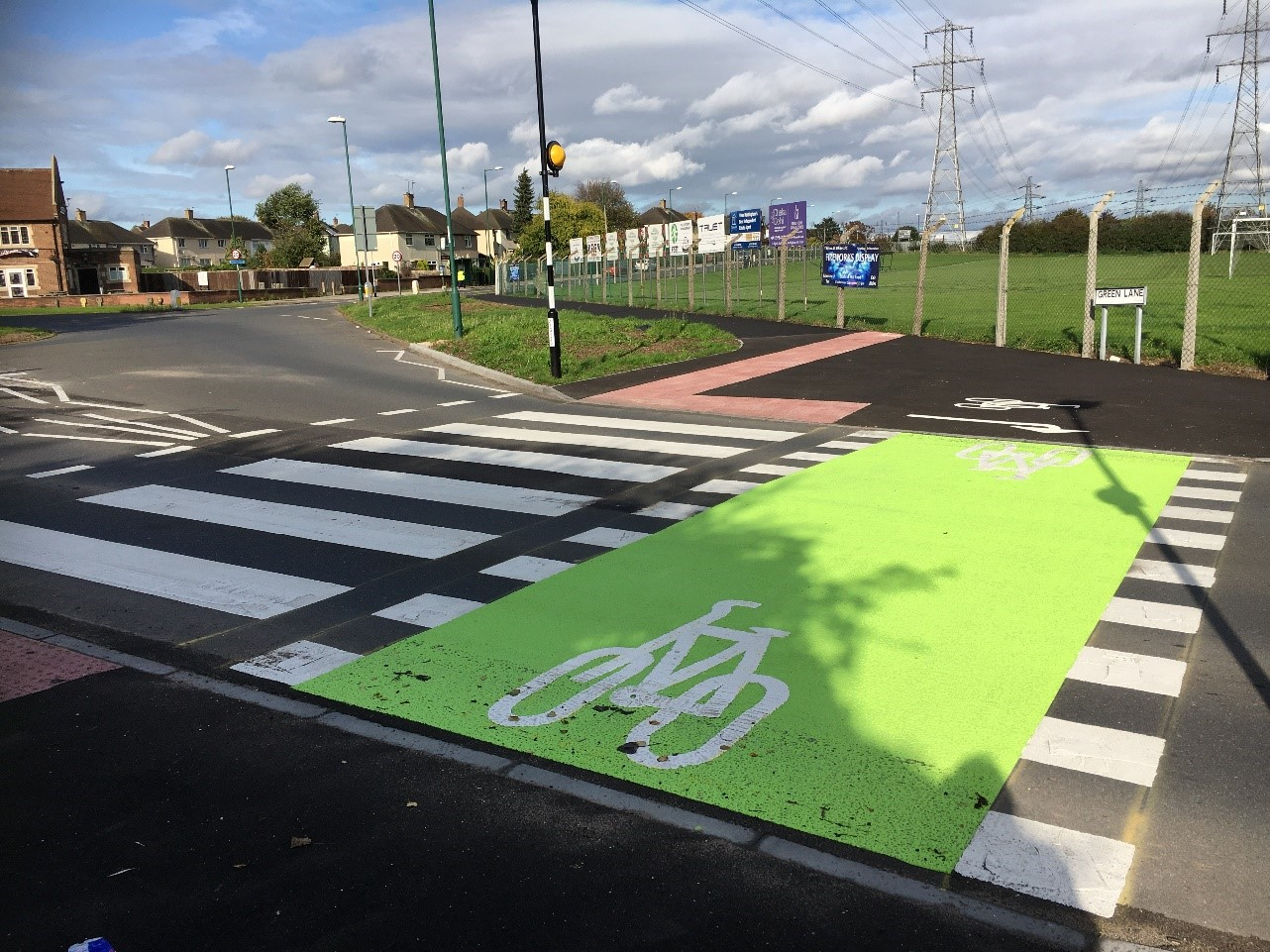 New cycle crossing on Farnborough Road