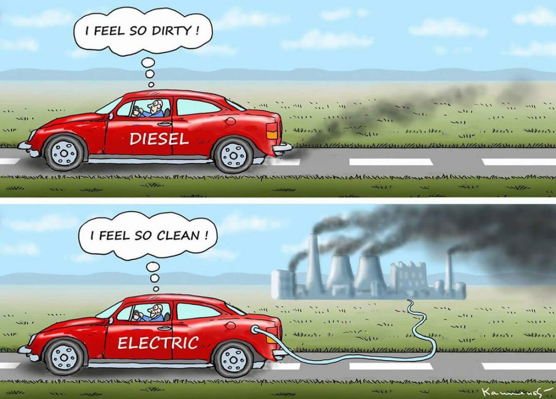 Vehicle to plant emissions