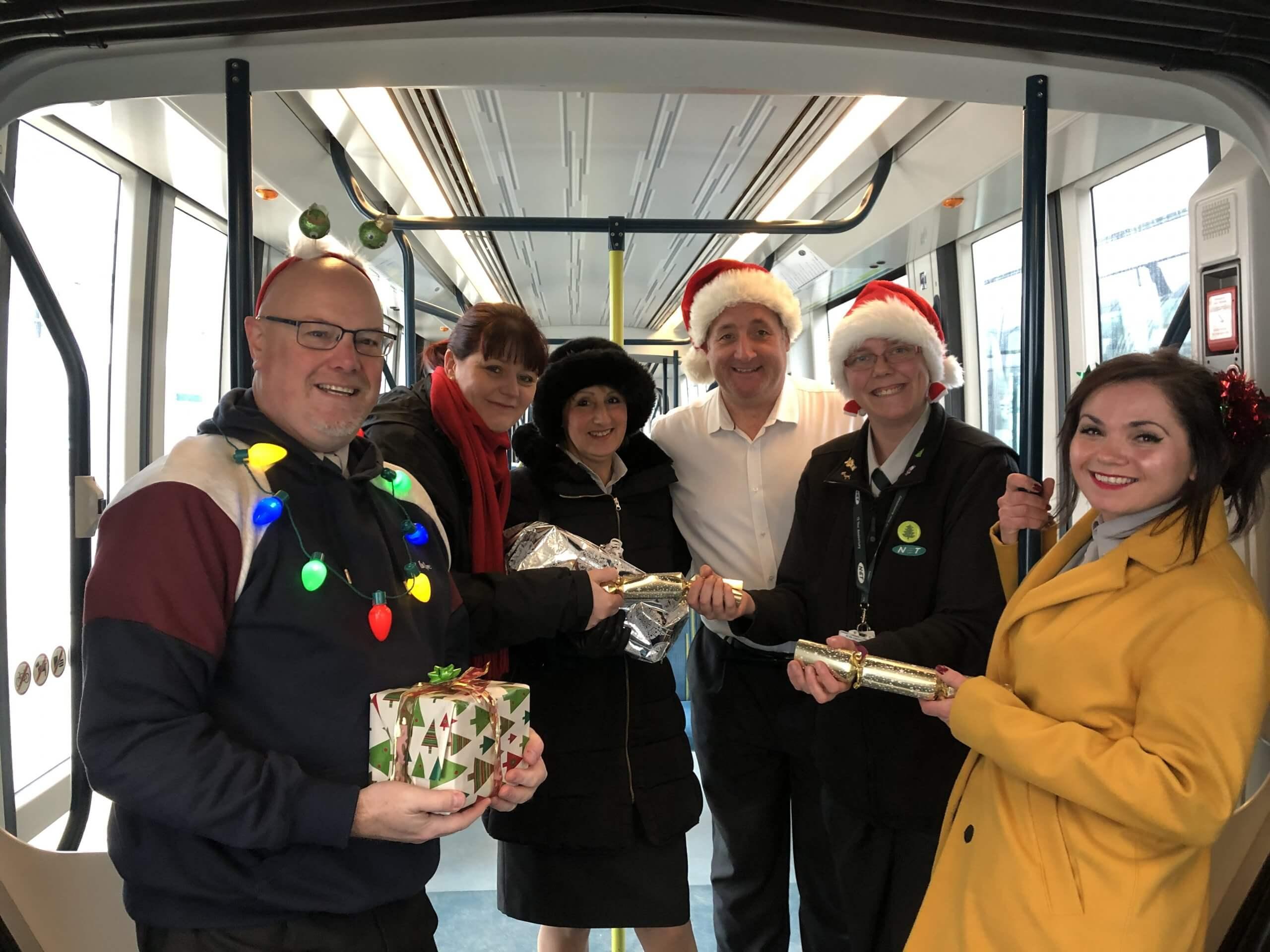 NET staff festively dressed