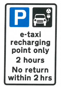 e-taxi only sign