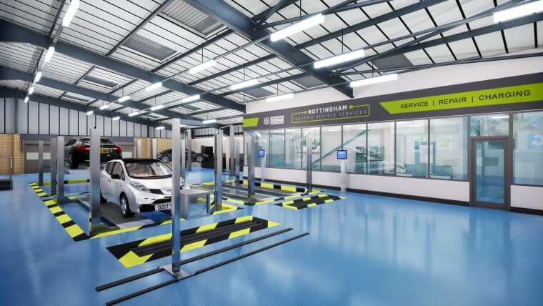 Concept image of inside service centre
