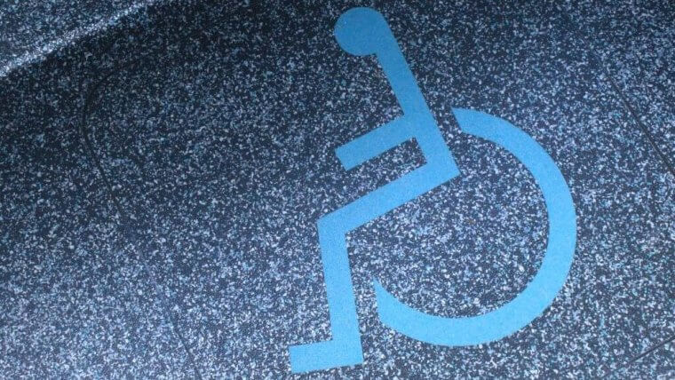 disabled floor sign