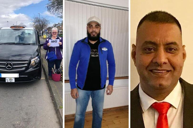 Taxi drivers who have been driving NHS workers